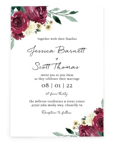 Floral Touch Rectangle Invitations
