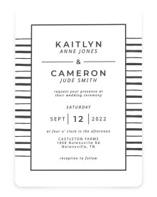 Love on the Line Rounded Invitations