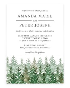 Ethereal Evergreens Rectangle Invitations