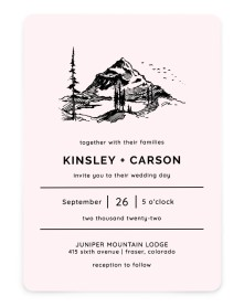 Mountain Romance Rounded Invitations