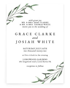 Tender Twig Rectangle Invitations