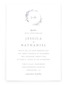 Dainty Wreath Rectangle Invitations