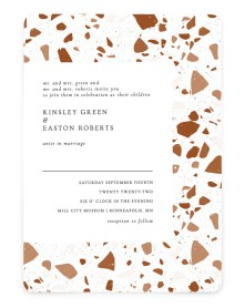 Cornerstone of Love Rounded Invitations