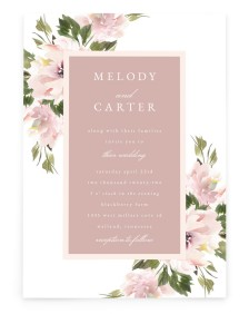 Sweet Floral Rectangle Invitations