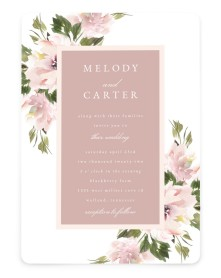 Sweet Floral Rounded Invitations