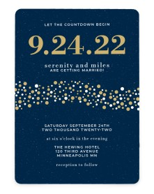 Modern Countdown Rounded Invitations