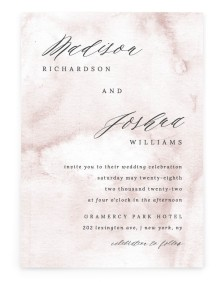 Gentle Touch Rectangle Invitations