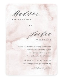 Gentle Touch Rounded Invitations