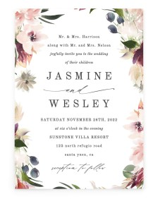 Natural Floral Rectangle Invitations