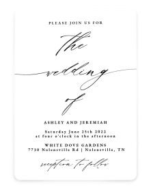 Simple Drama Rounded Invitations