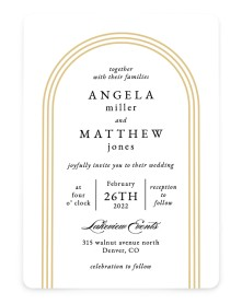 Charming Arch Rounded Invitations