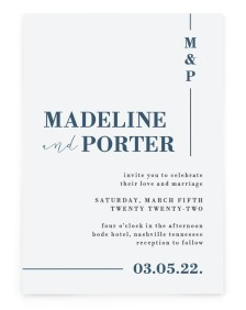 For Eternity Rectangle Invitations