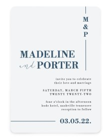 For Eternity Rounded Invitations