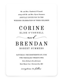 Classy Type Rounded Invitations