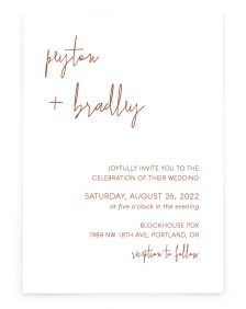 Mod Aesthetic Rectangle Invitations