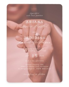 Flawless Photo Rounded Invitations