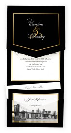 Classic New York Pocket Invitations