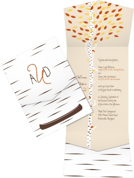 Love in the Woods Pocket Invitations