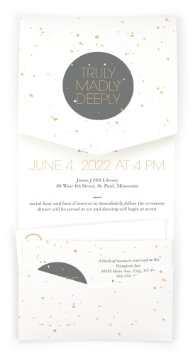 Truly, Madly, Deeply Pocket Invitations
