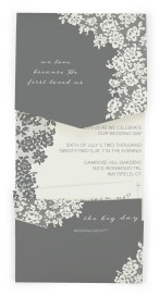 Modern Lace Pocket Invitations