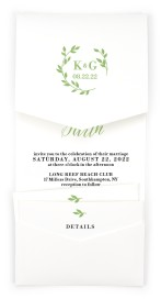 Charming Monogram Pocket Invitations