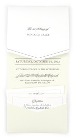 Classic Devotion Pocket Invitations