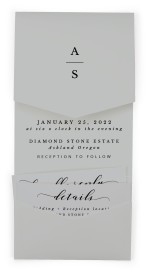 Timeless Eloquence Pocket Invitations