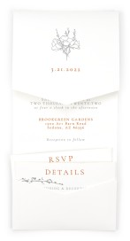 Poetic Bloom Pocket Invitations