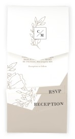 Delicate Splendor Pocket Invitations