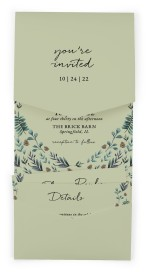 Pinecone Allure Pocket Invitations