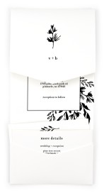 Stacked Squares Pocket Invitations
