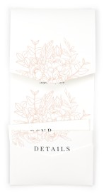 Floral Outline Pocket Invitations