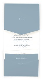 Floral Sketch Pocket Invitations