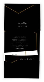 Love's Ribbon Pocket Invitations
