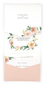 Delicate Florals Pocket Invitations