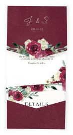 Floral Touch Pocket Invitations