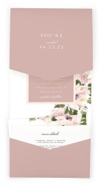 Sweet Floral Pocket Invitations