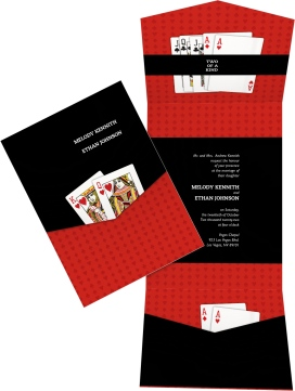 Two of a Kind (Playing Cards) Pocket Invitations