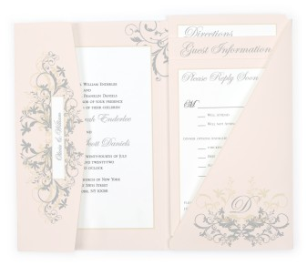 Classic Allure Pocket Invitations
