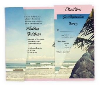 Florida Pocket Invitations