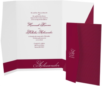 Forever Yours Pocket Invitations
