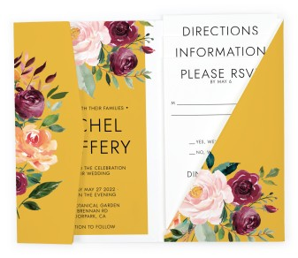 Country Florals Pocket Invitations