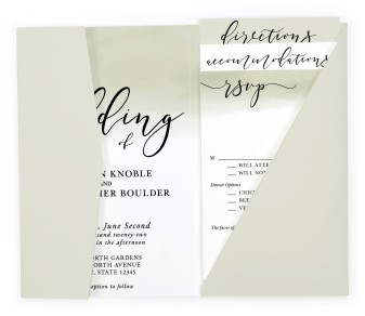 Luminous Ombre Pocket Invitations