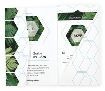 Geometric Garden Pocket Invitations