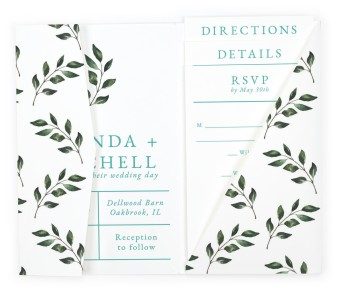 Sprinkled Sprig Pocket Invitations