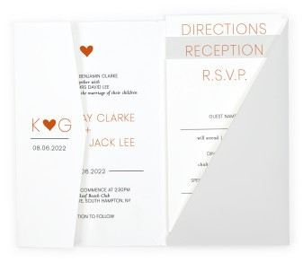 Heavenly Hearts Pocket Invitations