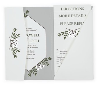 Floral Bliss Pocket Invitations