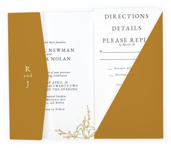 Blooming Rose Pocket Invitations