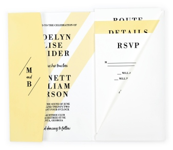 Cascading Light Pocket Invitations