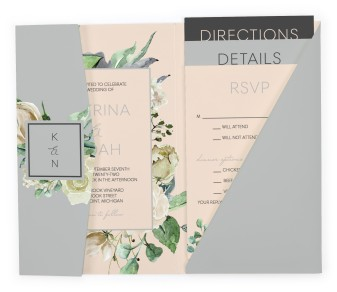 Divine Romance Pocket Invitations